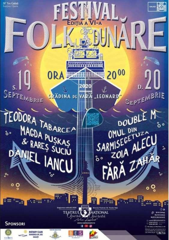Galaţi: Festivalul 'Folk la Dunăre' - la Grădina Leonard, în 19-12 septembrie