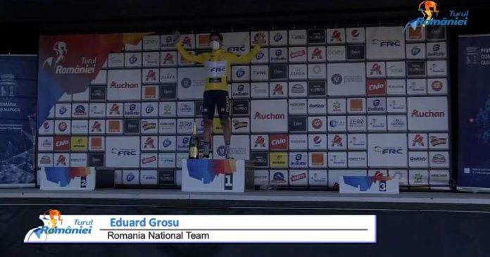 VIDEO Ciclism: Eduard Grosu şi-a consolidat poziţia de lider în Turul României, după locul al doilea de la Cluj