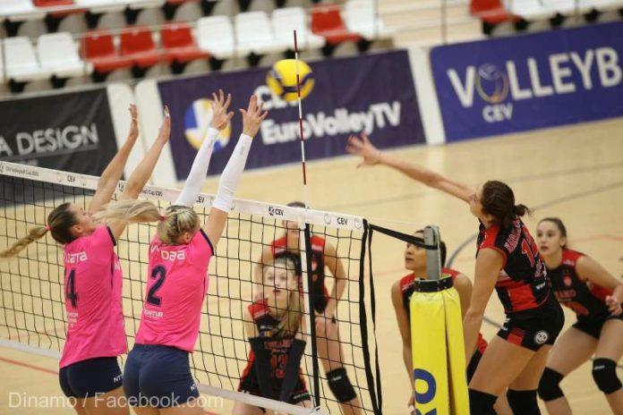 Volei feminin: Dinamo, cu o echipă decimată, a câştigat cu ''U'' Cluj, în Divizia A1