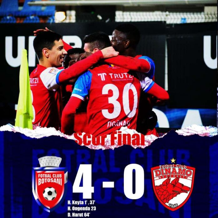 Fotbal - Liga I: FC Botoşani - Dinamo 4-0